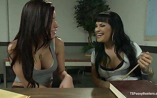 Bad Teacher Good Porn Ts Foxxy Initiates her Classmate Into Sex Work