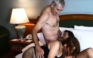 Cuckold by Asian ladyboy for Thai MILF wife and her husband