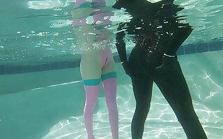Fun with Transgirl Nyxi Leon there the Pool